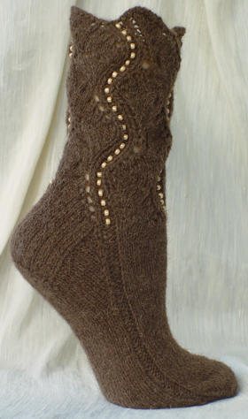 Buffalo Beaded Socks - view from the right