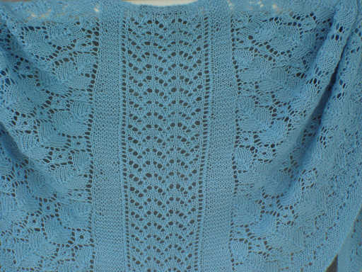 All-Over Lace Faroese Shawl in 100% alpaca fingering weight