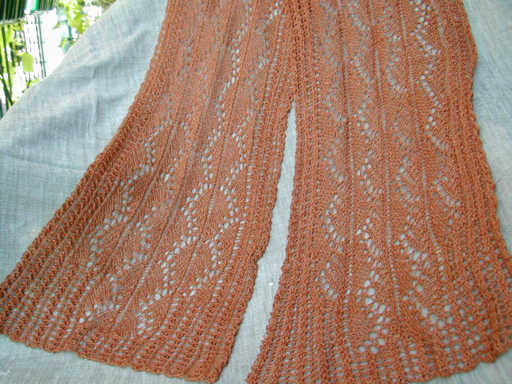 Pillared Archways Lace Scarf in Jaggerspun Zephyr
