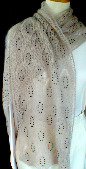 Beaded Lace Scarf