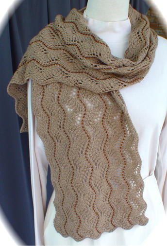 Beaded Lace Scarf II