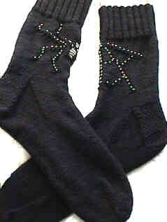 Spider-Web Sockies (the pair)