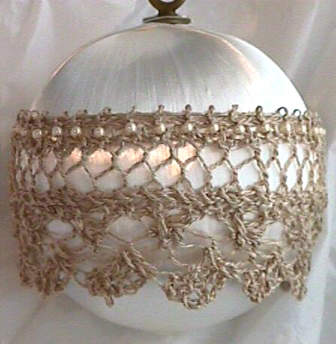 Satin and Lace Ornament