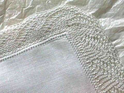 Lace Edged Hanky Heartstrings Lace Edged Hanky Pattern