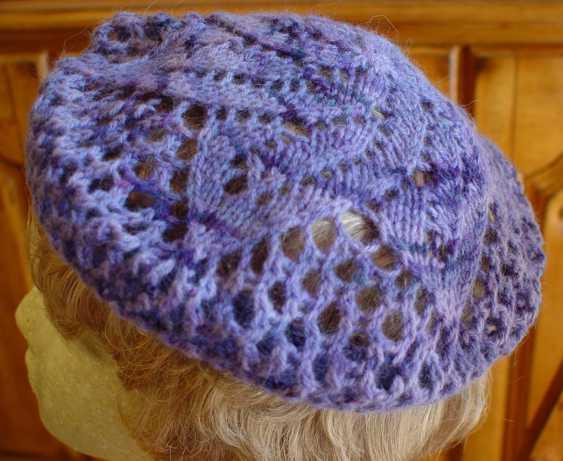 Free Knitting Patterns Lace Beret : Lace Beret :: HeartStrings Lace Doily Beret pattern