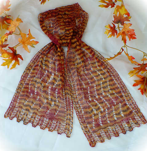 Colorful Splendor Lace Scarf in Schaefer Yarns Andrea silk