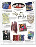 Knitter's Spring 2009 advertorial featuring Wrapped Up in Bows