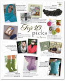 Knitter's Spring 2010 advertorial featuring Links of Diamonds
