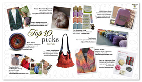 Fall 2012 issue of Twist featuring Flames of Fall Stole