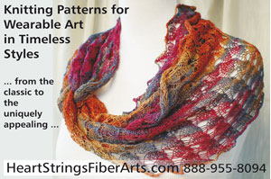 Knit 'N Style April 2010 issue ad featuring Ring of Lace Wrap