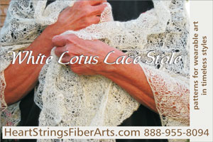 Knit 'N Style August 2010 issue ad featuring White Lotus Lace Stole