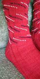 Patriotic Bead Striped Socks
