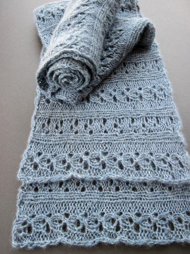 Knitting Pattern - Reversible Ribbed Anniversary Scarf from