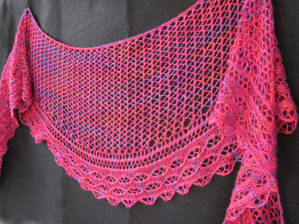 Knitting Patterns For Lace Shawls : Knitting Patterns: Lace, Beads and more from HeartStrings FiberArts