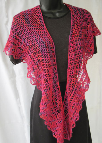 Loganberry Crescent Lace Shawl