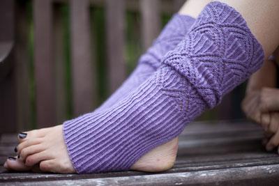 HeartStrings #A29U Austrian Lace Stirrup Leg Warmers in Tilli Tomas Artisan Sock yarn