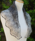 Elegantly Simple Triangle Shawl in the neck scarf size
