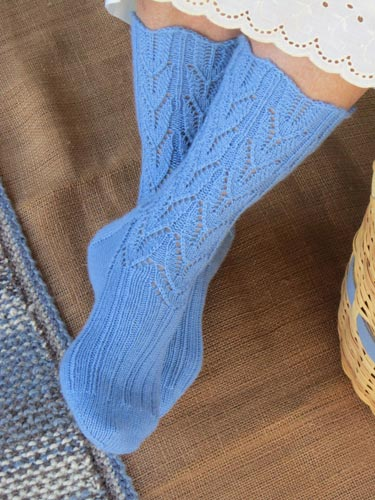 Country Girl Socks in Tilli Tomas Artisan Sock yarn