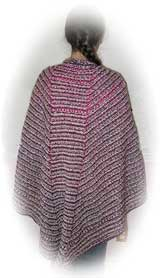 Troika Wrap-Around Faroese Shawl knitted by Joy Cyr