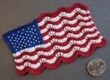 Mini Lace and Beaded Flag