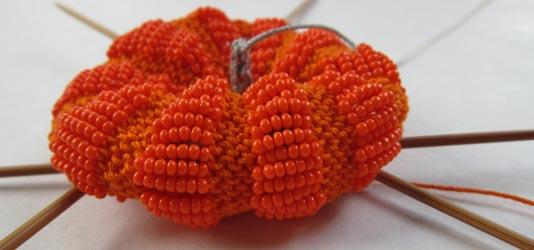 Little Beaded Pumpkin