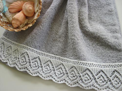 Lace-edged Towel