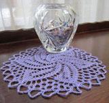 Thread lace doily