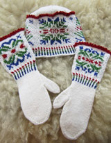 No Two Alike Snowflakes Hat and Mittens set