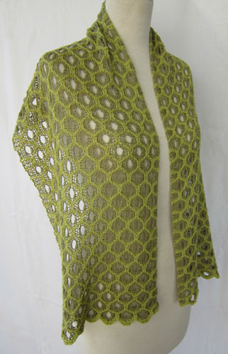 Honeycomb Shadow Lace Stole