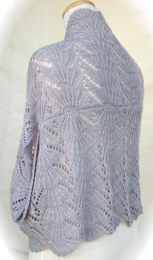 Knitting Pattern Lace Jacket : Lace Jacket Wrap :: Hug-Me-Tight Fan Lace Jacket Wrap