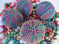 Mardi Gras Beaded Stress Balls