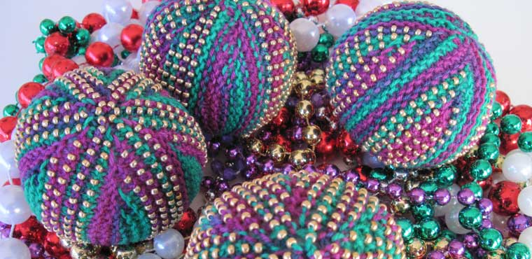 Mardi Gras Beaded Stress Balls