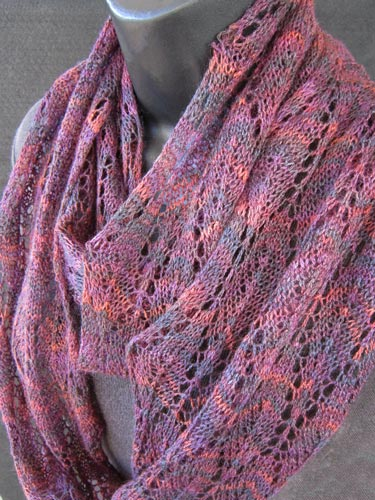 Winter Lace worn as a soft doubled loop