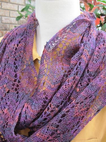 Winter Lace Loop Infinity Loop Scarf Lace Knitting Pattern