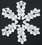 Lacyflake knitted snowflake