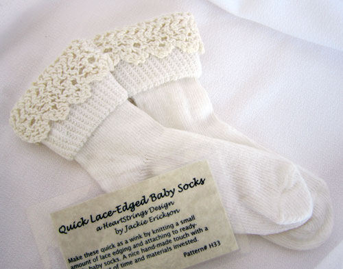 Lace-edged Baby Socks