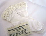 Quick Lace-edged Baby Socks