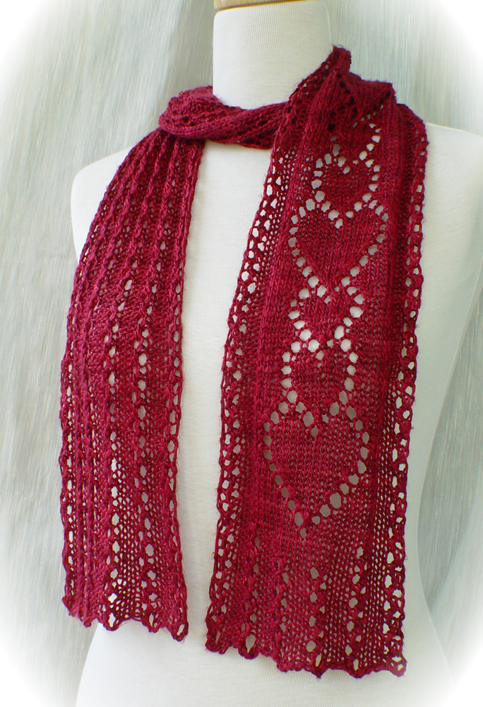 Scarf Knitting Pattern : lace knitting patterns :: beaded knits :: knitted lace