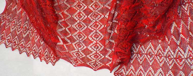 Faceted Gems Lace Wrap