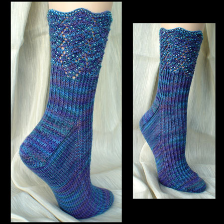 Beaded Offset hevrons Socks
