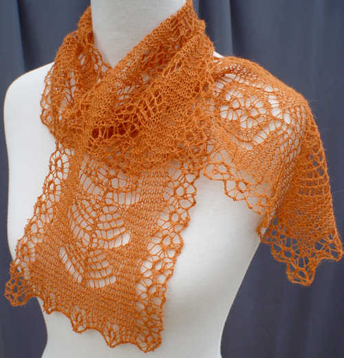 Last Weekends Lace Scarf Blocked And Photod Taking Time To