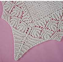 Filigree Lace-edged Baby Blanket in a solid color
