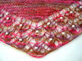 Shallow Tri Shawl - detail of beaded lace border