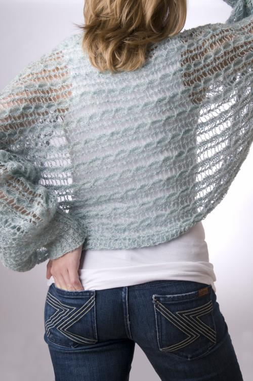 Free Knitting Pattern For Shrug : Glitz Shrug :: HeartStrings Put on the Glitz Shrug pattern