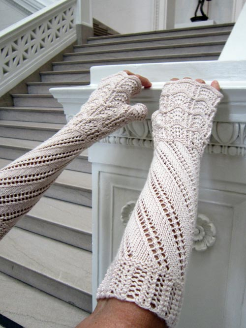 Terzetto Victorian elbow-length fingerless gloves