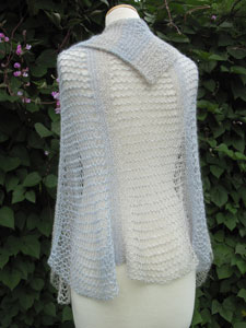 Half-note Symphony Shawl back view