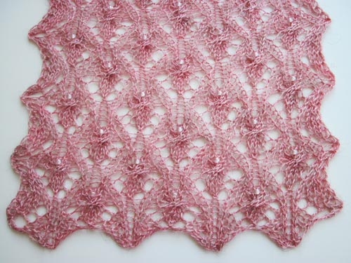 the fairies end of the Fairies and Flowers Scarf