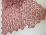 Fairies and Flowers Scarf Lace Cables