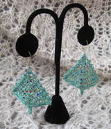 Bitty Beady Christmas Tree Earrings