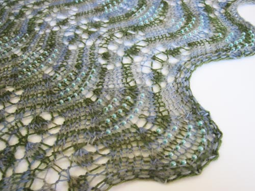 Beading detail of Gentle Breezes Stole